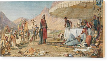 Wood Print featuring the photograph John Frederick Lewis Mount Sinai 1842 by Munir Alawi