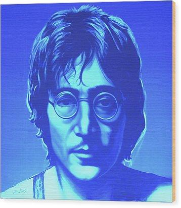 John Lennon Wood Print by Agris Rautins