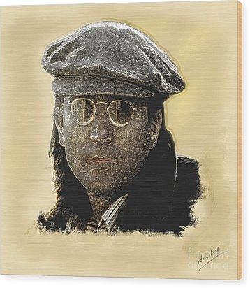 John Lennon Wood Print by Debora Cardaci