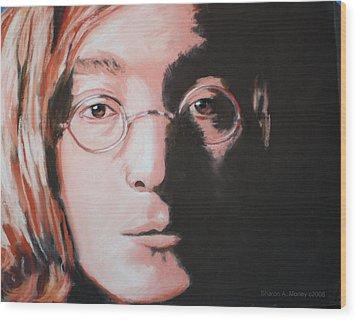 John Lennon  Imagine Wood Print by Sharon Morley  APS