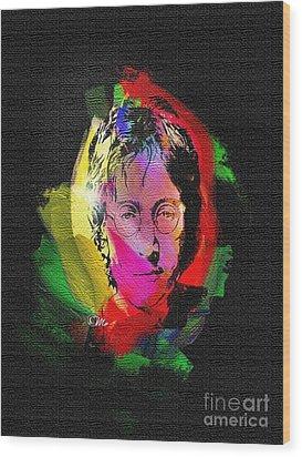 John Lennon Wood Print by Mo T