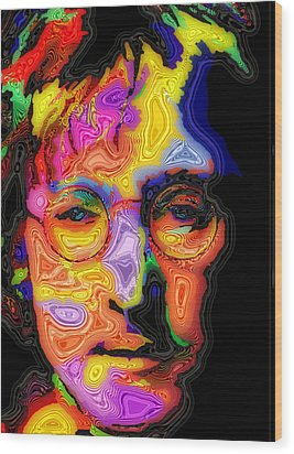 John Lennon Wood Print by Stephen Anderson