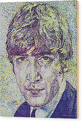 John Lennon Wood Print by Suzanne Gee