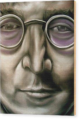 John Lennon Wood Print by Zach Zwagil
