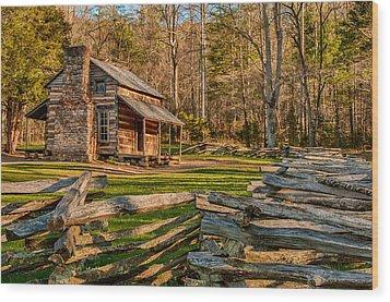 John Oliver Cabin Cades Cove Wood Print