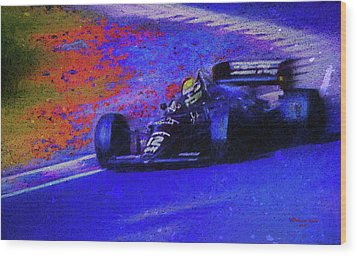 Wood Print featuring the mixed media John Player Special by Marvin Spates