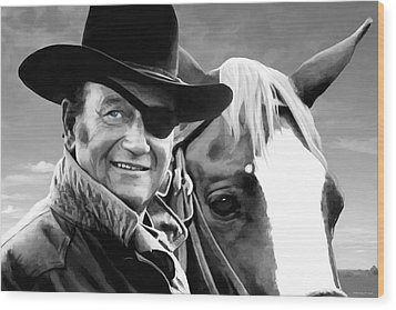 John Wayne @ True Grit #1 Wood Print