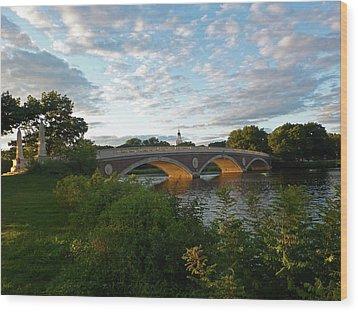 John Weeks Bridge In Harvard Square Cambridge Wood Print