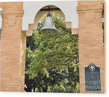 Wood Print featuring the photograph John Wheeler Bunton Historic Memorial by Ray Shrewsberry