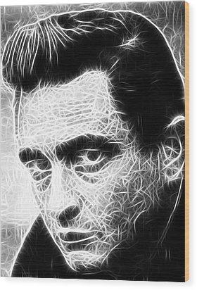 Johnny Cash Wood Print by Paul Van Scott