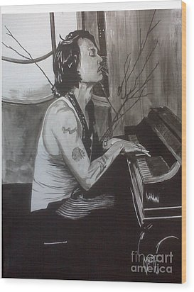Johnny Depp 1 Wood Print by Justin Moore