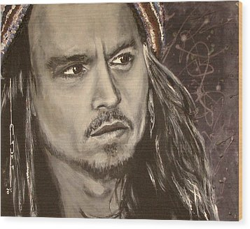 Johnny Depp Wood Print by Eric Dee
