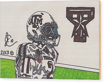 Johnny Manziel 13 Wood Print by Jeremiah Colley