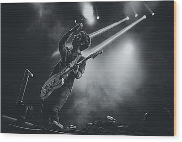 Johnny Marr Playing Live Wood Print