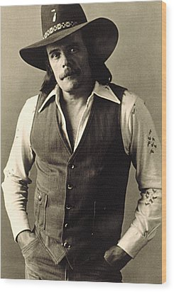 Johnny Paycheck, C. 1970s Wood Print by Everett