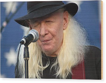 Wood Print featuring the photograph Johnny Winter by Mike Martin