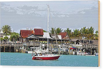 Johns Pass Florida Wood Print by David Lee Thompson