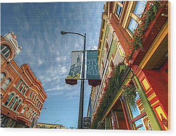 Johnson Street In Victoria B.c. Wood Print by David Gn
