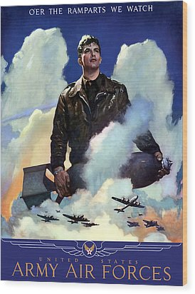 Join The Army Air Forces Wood Print by War Is Hell Store