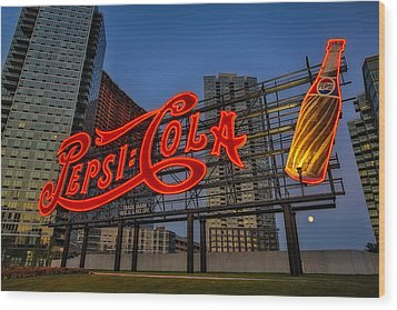 Join The Pepsi Generation Wood Print by Susan Candelario