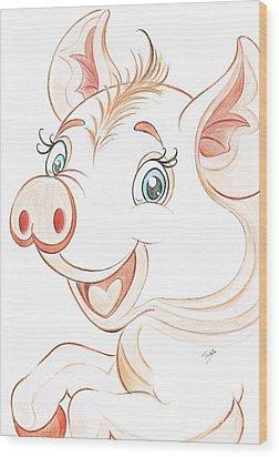 Jolly Miss Piggy Wood Print