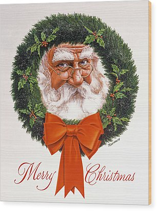 Jolly Old Saint Nick Wood Print by Richard De Wolfe