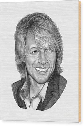 Jon Bon Jovi Wood Print by Murphy Elliott
