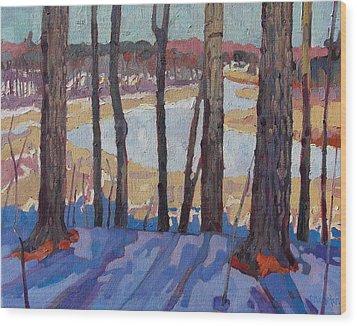 Jones Creek Morning Wood Print by Phil Chadwick