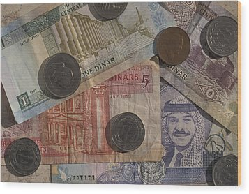 Jordan Currency Wood Print by Richard Nowitz