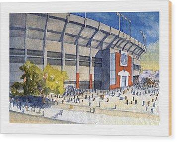 Jordan-hare Stadium Wood Print by Bill Whittaker