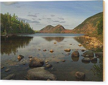 Wood Print featuring the photograph Jordan Pond 1 by Arthur Dodd