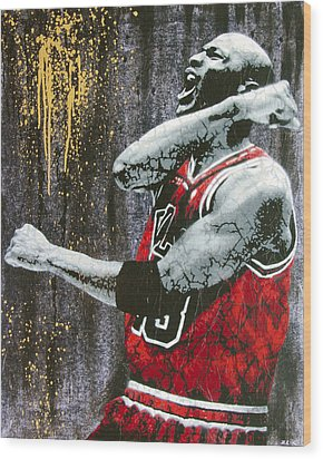 Jordan - The Best There Ever Was Wood Print by Bobby Zeik