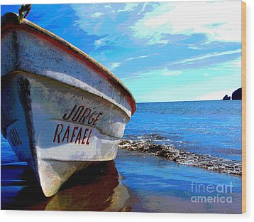 Jorge Rafael By Michael Fitzpatrick Wood Print by Mexicolors Art Photography