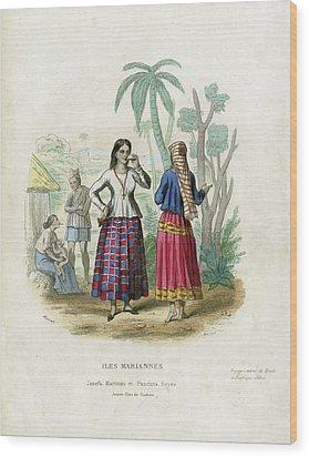 Wood Print featuring the drawing Josefa Martines Et Panchita Reyes by Massart