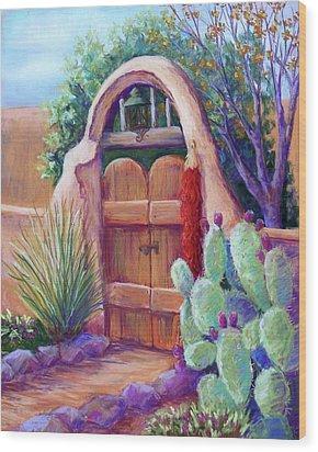 Josefina's Gate Wood Print by Candy Mayer