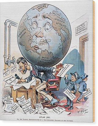 Joseph Pulitzer Cartoon Wood Print by Granger