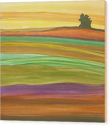 Journey Wood Print by Amanda Schambon