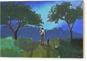 Journey From Desparation To Hope Wood Print