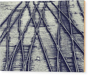 Wood Print featuring the photograph Journey Marks by Wayne Sherriff