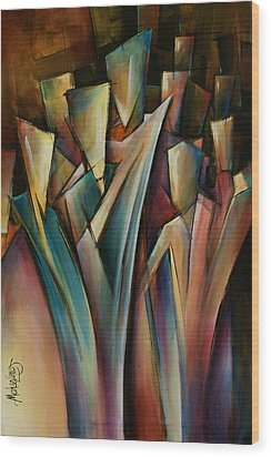 Journey Wood Print by Michael Lang