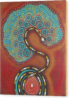 Journey Of Life Wood Print by NARI - Mother Earth Spirit