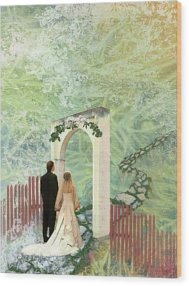 Journey Of Marriage Wood Print by Arlissa Vaughn