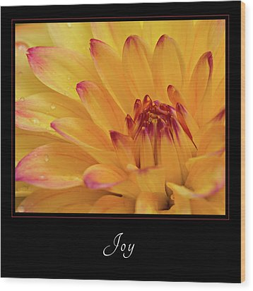 Wood Print featuring the photograph Joy 1 by Mary Jo Allen