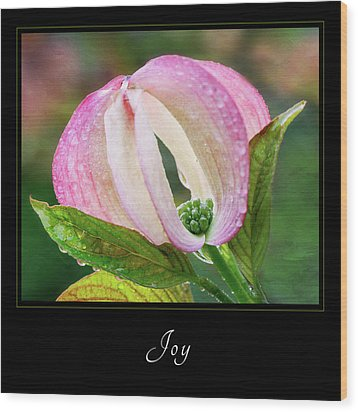 Wood Print featuring the photograph Joy 3 by Mary Jo Allen