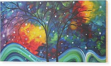Joy By Madart Wood Print by Megan Duncanson