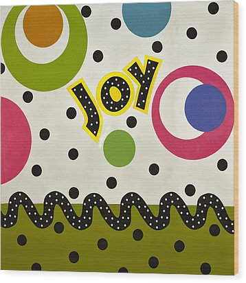 Wood Print featuring the mixed media Joy by Gloria Rothrock