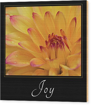 Wood Print featuring the photograph Joy by Mary Jo Allen