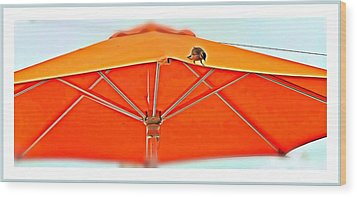 Wood Print featuring the digital art Joy On An Umbrella by Mindy Newman