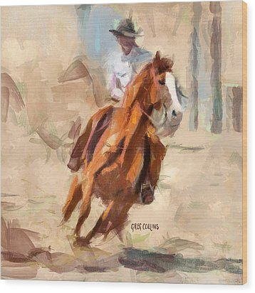 Joy Ride Wood Print