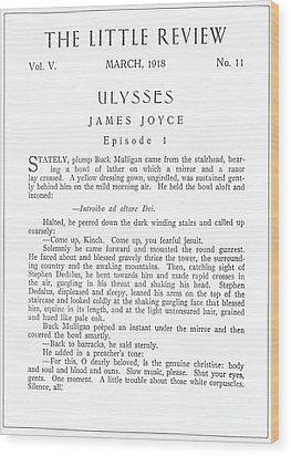 Joyce: Ulysses, 1918 Wood Print by Granger